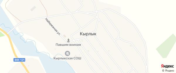 Улица Ветеранов на карте села Кырлыка с номерами домов