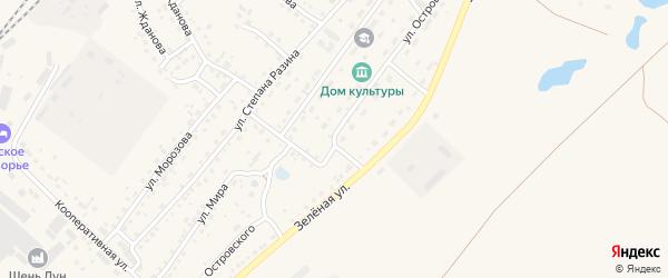 Улица Островского на карте Заринска с номерами домов