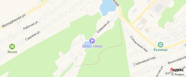 Озерная улица на карте Белокурихи с номерами домов