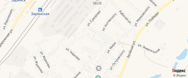 Улица Дзержинского на карте Заринска с номерами домов