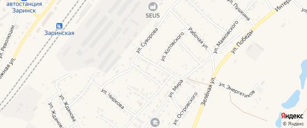 Целинная улица на карте Заринска с номерами домов