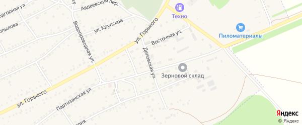 Деповская улица на карте Заринска с номерами домов