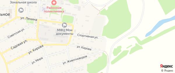 Спортивная улица на карте Зонального села с номерами домов
