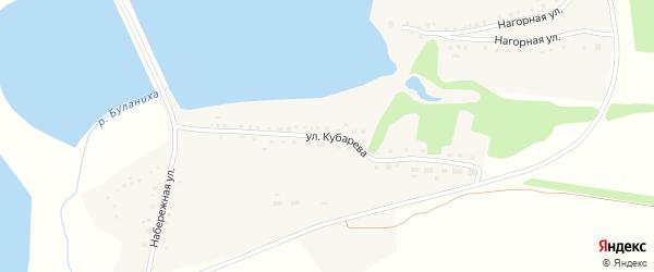 Улица Кубарева на карте села Буланихи с номерами домов