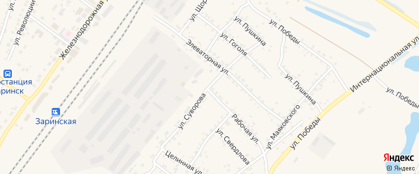 Улица Суворова на карте Заринска с номерами домов