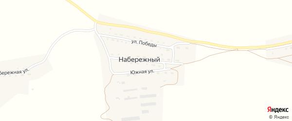 Центральная улица на карте Набережного поселка с номерами домов