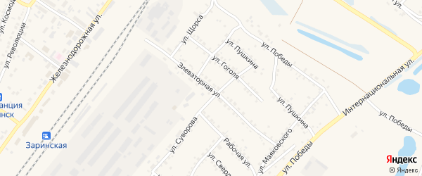 Элеваторная улица на карте Заринска с номерами домов
