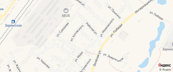 Улица Свердлова на карте Заринска с номерами домов