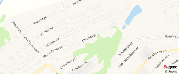 Степная улица на карте Белокурихи с номерами домов