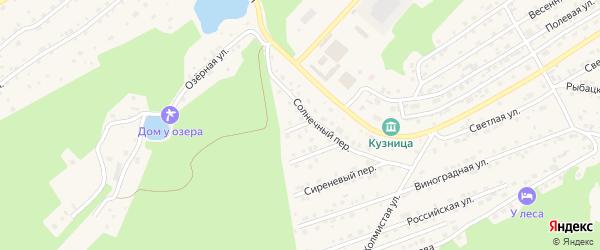 Белый переулок на карте Белокурихи с номерами домов