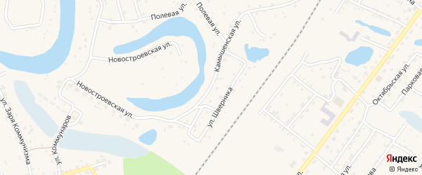 Камышенская улица на карте Заринска с номерами домов
