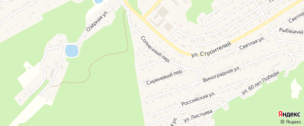 Казачий переулок на карте Белокурихи с номерами домов
