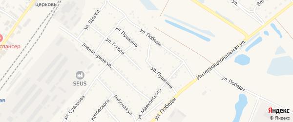 Улица Пушкина на карте Заринска с номерами домов