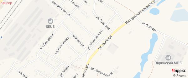 Улица Маяковского на карте Заринска с номерами домов