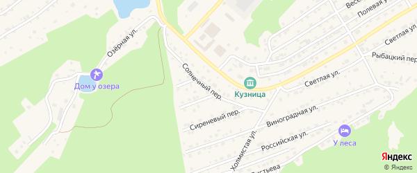 Солнечный переулок на карте Белокурихи с номерами домов