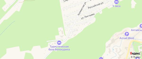 Холмистая улица на карте Белокурихи с номерами домов