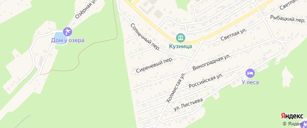 Сиреневый переулок на карте Белокурихи с номерами домов