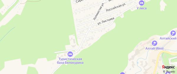 Таежный переулок на карте Белокурихи с номерами домов