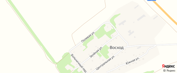 Полевая улица на карте поселка Восхода с номерами домов