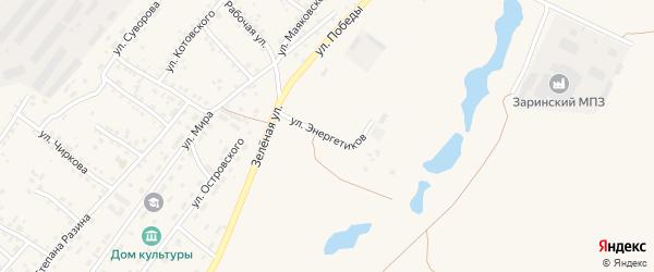 Улица Энергетиков на карте Заринска с номерами домов