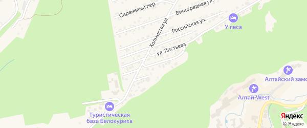 Кедровый переулок на карте Белокурихи с номерами домов
