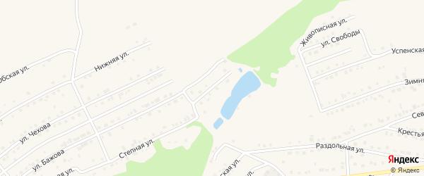 Ореховый переулок на карте Белокурихи с номерами домов