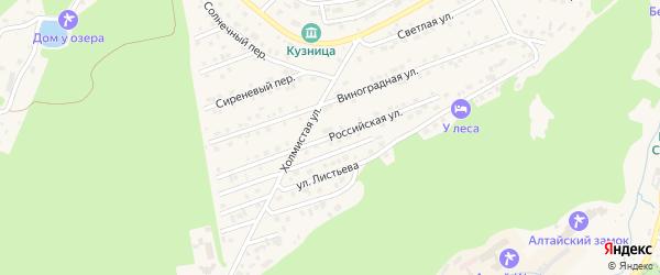 Российская улица на карте Белокурихи с номерами домов