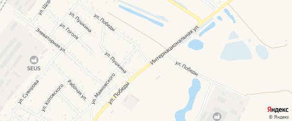 Улица Победы на карте Заринска с номерами домов