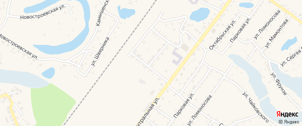 Олимпийская улица на карте Заринска с номерами домов