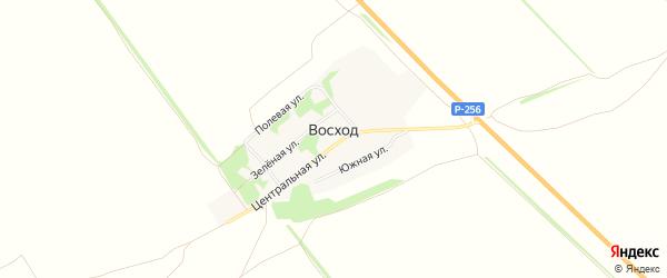 Карта поселка Восхода в Алтайском крае с улицами и номерами домов