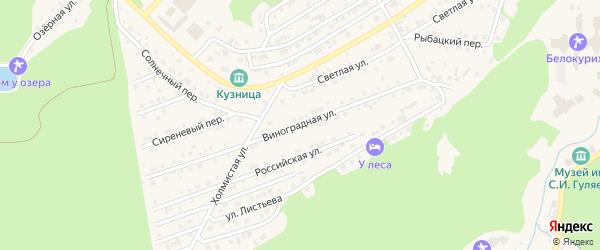 Виноградная улица на карте Белокурихи с номерами домов