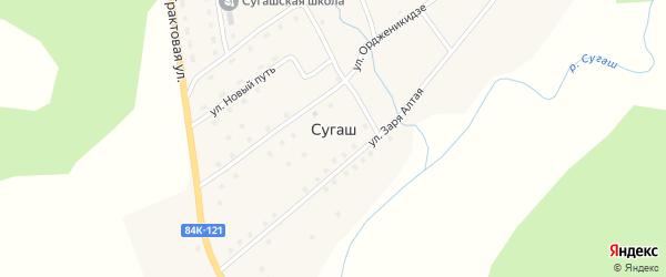 Трактовая улица на карте села Сугаша с номерами домов