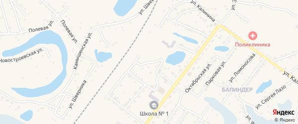 Улица Поповича на карте Заринска с номерами домов