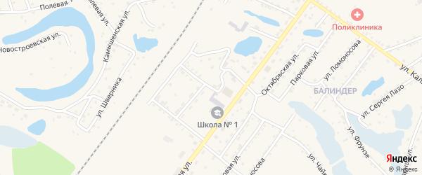 Строительная улица на карте Заринска с номерами домов