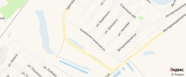 Коммунистическая улица на карте Заринска с номерами домов