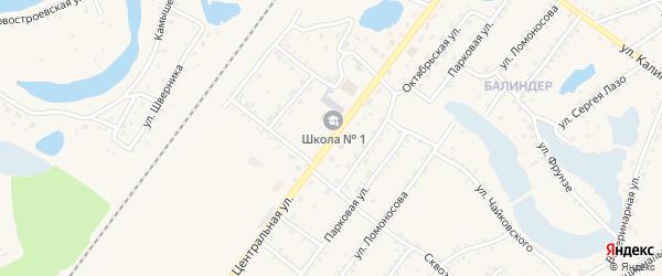 Центральная улица на карте Заринска с номерами домов