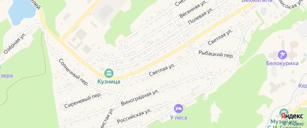 Улица Строителей на карте Белокурихи с номерами домов