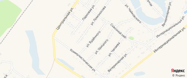 Улица Буденного на карте Заринска с номерами домов