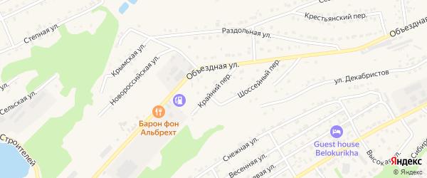 Крайний переулок на карте Белокурихи с номерами домов