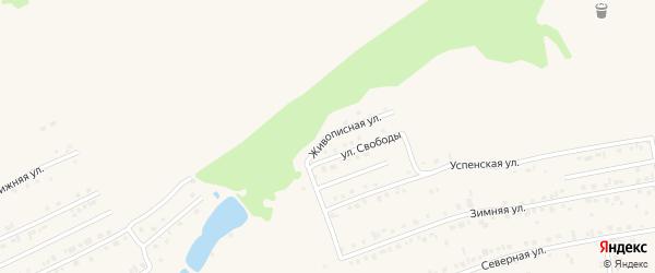 Живописная улица на карте Белокурихи с номерами домов