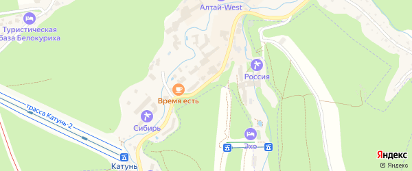 Улица Славского на карте Белокурихи с номерами домов