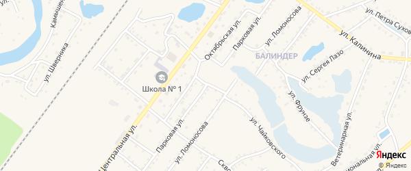 Парковая улица на карте Заринска с номерами домов