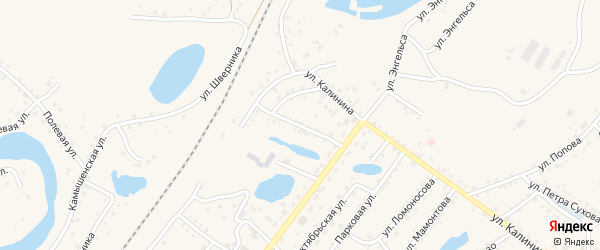 Улица Молодой Гвардии на карте Заринска с номерами домов