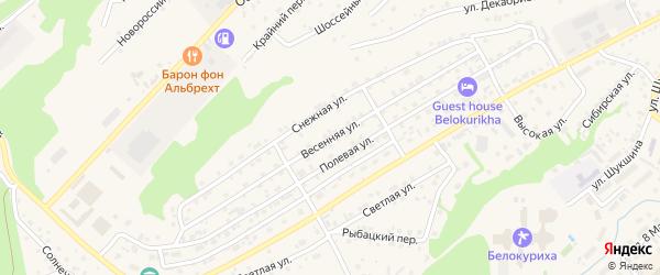 Весенняя улица на карте Белокурихи с номерами домов