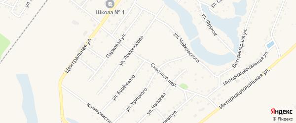 Сквозной переулок на карте Заринска с номерами домов