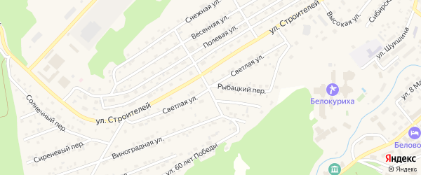 Светлая улица на карте Белокурихи с номерами домов
