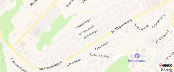 Полевая улица на карте Белокурихи с номерами домов