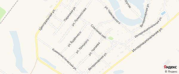 Улица Урицкого на карте Заринска с номерами домов