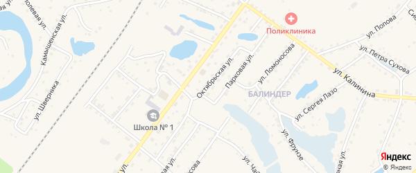 Октябрьская улица на карте Заринска с номерами домов