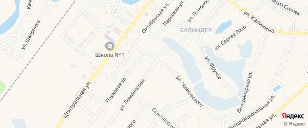 Улица Ломоносова на карте Заринска с номерами домов